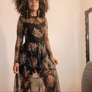 Black Flowery dress